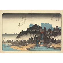 歌川広重: Evening Bell at Ikegami, from the series Eight Views of the Environs of Edo - ウィスコンシン大学マディソン校