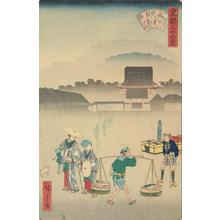 Utagawa Hiroshige II: Morning Mist at Zojoji, from the series Thirty-six Views of the Eastern Capital - University of Wisconsin-Madison