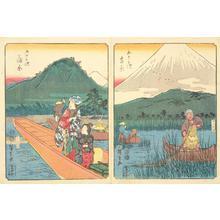 歌川広重: Kambara, no. 16 from the series Fifty-three Stations (Figure Tokaido) - ウィスコンシン大学マディソン校