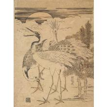 Isoda Koryusai: Three Cranes, Pines, and Rising Sun - University of Wisconsin-Madison