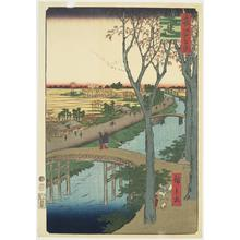 歌川広重: The Koume Embankment, no. 104 from the series One-hundred Views of Famous Places in Edo - ウィスコンシン大学マディソン校