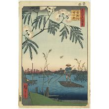歌川広重: The Ayase River and Kanegafuchi, no. 69 from the series One-hundred Views of Famous Places in Edo - ウィスコンシン大学マディソン校