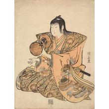 Torii Kiyonaga: Boy Playing a Hand Drum, from a series of Five Boy Musicians - University of Wisconsin-Madison