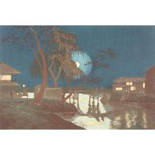 小林清親: Moonlight on the Tea Houses at Imado Bridge - ウィスコンシン大学マディソン校