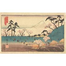 Utagawa Hiroshige: Flower Viewing at Asuka Hill, from the series Famous Places in Edo - University of Wisconsin-Madison