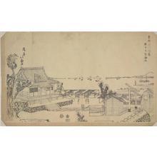 渡辺省亭: View of the Ocean from the Benzaiten Shrine at Susaki in the Fukugawa District of the Eastern Capital - ウィスコンシン大学マディソン校