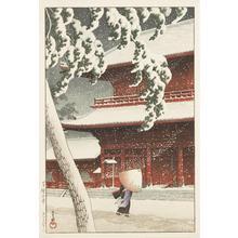 川瀬巴水: Zojo Temple Shiba, from the series Twenty Views of Tokyo - ウィスコンシン大学マディソン校