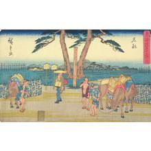歌川広重: Ishibe, no. 52 from the series Fifty-three Stations of the Tokaido (Gyosho Tokaido) - ウィスコンシン大学マディソン校
