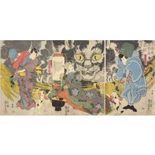 Utagawa Kuniyoshi: Actors as Teraoka Kanshin, Oe Mabanosuka, and the Cat Witch of Okabe - University of Wisconsin-Madison