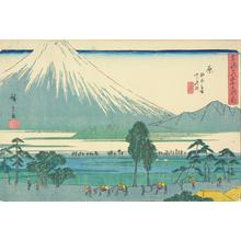 歌川広重: Fuji Marsh and Kashiwabara, a Stopping Place near Hara, no. 14 from the series Fifty-three Stations of the Tokaido (Gyosho Tokaido) - ウィスコンシン大学マディソン校
