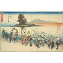 Utagawa Hiroshige: The Ebisu Festival on the Tenth Day of the First Month at Imamiya, from the series Pictures of Famous Places in Osaka - University of Wisconsin-Madison
