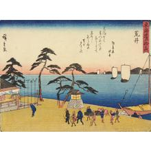 Utagawa Hiroshige: Arai, no. 32 from the series Fifty-three Stations of the Tokaido (Sanoki Half-block Tokaido) - University of Wisconsin-Madison