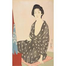 橋口五葉: Woman in Summer Robe - ウィスコンシン大学マディソン校