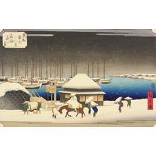 歌川広重: Evening Snow at Takanawa, from the series Eight Snow Scenes in the Eastern Capital - ウィスコンシン大学マディソン校