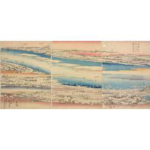 歌川広重: Panoramic View of the Sumida River in the Snow - ウィスコンシン大学マディソン校