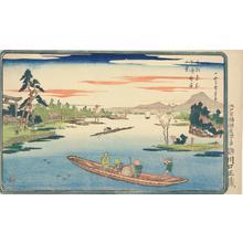 歌川広重: Late Spring at Massaki, from the series Famous Places in the Eastern Capital - ウィスコンシン大学マディソン校