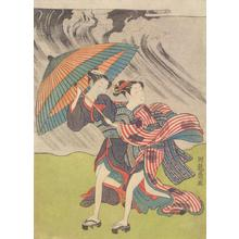 Isoda Koryusai: Women Running in a Storm - University of Wisconsin-Madison