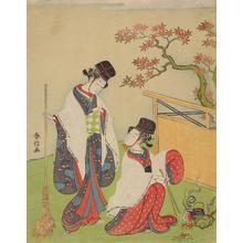Suzuki Harunobu: Two Women Dressed as Imperial Workmen - University of Wisconsin-Madison