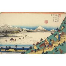 渓斉英泉: View of Lake Suwa from Shiojiri Pass, no. 31 from the series The Sixty-nine Stations of the Kisokaido - ウィスコンシン大学マディソン校