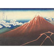 葛飾北斎: Rainstorm Beneath the Summit (Fuji over Lightening), from the series Thirty-six Views of Mt. Fuji - ウィスコンシン大学マディソン校