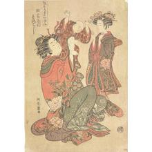 Isoda Koryusai: Courtesan Holding Baby Boy - University of Wisconsin-Madison