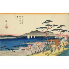 Utagawa Hiroshige: Cherry Trees in Full Bloom along the Sumida River, from the series Famous Places in the Eastern Capital - University of Wisconsin-Madison