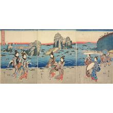 歌川広重: Picture of the Bay at Futami, from the series Famous Places in Ise Province - ウィスコンシン大学マディソン校