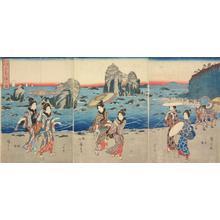 歌川広重: Picture of the Bay at Futami, from the series Famous Places in Ise Province - ウィスコンシン大学マディソン校