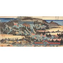 Utagawa Hiroshige: Precents of the Inari Shrine at Oji, from the series Famous Places in the Eastern Capital - University of Wisconsin-Madison