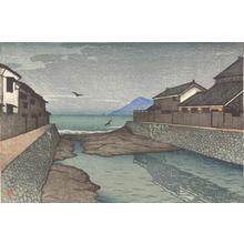 川瀬巴水: The Hori River, Obama, from the series Souvenirs of Travel, First Series - ウィスコンシン大学マディソン校