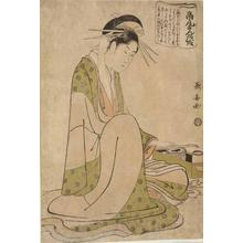 長喜: The Confession of the Courtesan Takao, from a series of Heroines in Celebrated Scenes from Kabuki Plays - ウィスコンシン大学マディソン校