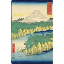 歌川広重: Lake at Hakone, no. 21 from the series Thirty-six Views of Mt. Fuji - ウィスコンシン大学マディソン校
