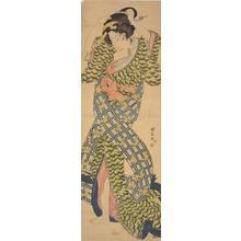 Utagawa Kuniyasu: Geisha Adjusting Her Hair - University of Wisconsin-Madison