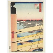 歌川広重: Nihon Bridge and Edo Bridge, no. 43 from the series One-hundred Views of Famous Places in Edo - ウィスコンシン大学マディソン校