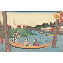 Utagawa Hiroshige: Ohashi, Nakazu, and Mitsumata, from the series Famous Places in Edo - University of Wisconsin-Madison