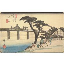 Utagawa Hiroshige: Nagakubo, no. 28 from the series The Sixty-nine Stations of the Kisokaido - University of Wisconsin-Madison
