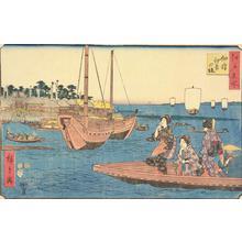 Utagawa Hiroshige: The Sumiyoshi Shrine at Tsukuda Island, from the series Famous Places in Edo - University of Wisconsin-Madison