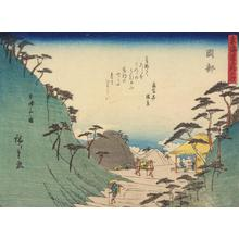 Utagawa Hiroshige: Okabe, no. 22 from the series Fifty-three Stations of the Tokaido (Sanoki Half-block Tokaido) - University of Wisconsin-Madison