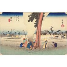 歌川広重: Winter Desolation at Hamamatsu, no. 30 from the series Fifty-three Stations of the Tokaido (Hoeido Tokaido) - ウィスコンシン大学マディソン校