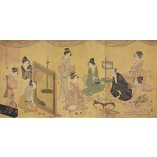Hosoda Eishi: Geisha and Comedian Entertaining a Client - University of Wisconsin-Madison