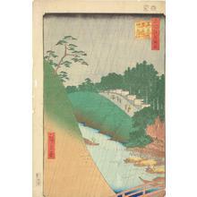 歌川広重: Seido and the Kanda River from Shohei Bridge, no. 46 from the series One-hundred Views of Famous Places in Edo - ウィスコンシン大学マディソン校