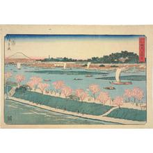 Utagawa Hiroshige: The Mimeguri Embankment on the Sumida River, from the series Famous Places in Edo - University of Wisconsin-Madison