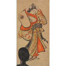 Torii Kiyomasu I: Courtesan Adjusting a Comb in Her Hair - University of Wisconsin-Madison