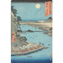 歌川広重: Ishiyamadera and Lake Biwa in Omi Province, no. 22 from the series Pictures of Famous Places in the Sixty-odd Provinces - ウィスコンシン大学マディソン校