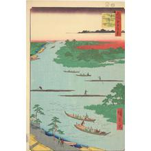 Utagawa Hiroshige: Mouth of the Naka River, no. 60 from the series One-hundred Views of Famous Places in Edo - University of Wisconsin-Madison