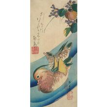 Utagawa Hiroshige: Mandarin Ducks in a Stream - University of Wisconsin-Madison