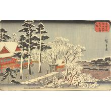Utagawa Hiroshige: Clear Weather after Snow at the Precincts of the Myojin Shrine in Kanda, from the series Famous Places in the Eastern Capital - University of Wisconsin-Madison