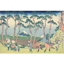 Katsushika Hokusai: Hodogaya on the Tokaido, from the series Thirty-six Views of Mt. Fuji - University of Wisconsin-Madison