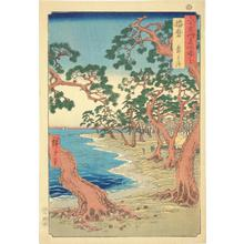 Utagawa Hiroshige: Maiko Beach in Harima Province, no. 45 from the series Pictures of Famous Places in the Sixty-odd Provinces - University of Wisconsin-Madison