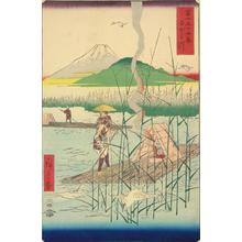 Utagawa Hiroshige: The Sagami River, no. 18 from the series Thirty-six Views of Mt. Fuji - University of Wisconsin-Madison